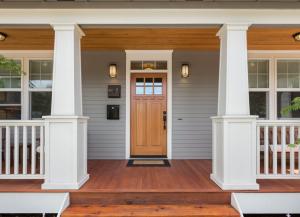 New front door locks at a house in Batavia, Illinois