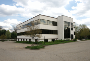Commercial locks at a business property in Geneva, Illinois