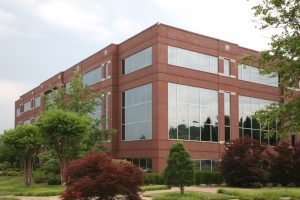 Commercial locksmith at an office building in Elgin, Illinois